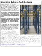 Steel King Drive-In Rack Systems