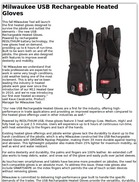 Milwaukee USB Rechargeable Heated Gloves