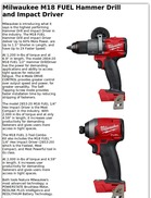 Milwaukee M18 FUEL Hammer Drill and Impact Driver