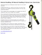 All Material Handling LA Series lever chain hoists