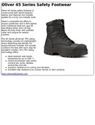 Oliver 45 Series Safety Footwear