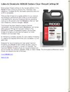 RIDGID Endura-Clear Thread Cutting Oil Maximizes Wear Resistance Increasing Die Life