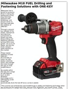 Milwaukee M18 FUEL Drilling and Fastening Solutions with ONE-KEY