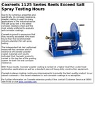 Coxreels 1125 Series Reels Exceed Salt Spray Testing Hours