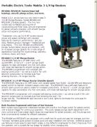 Makita 3-1/4 hp Routers