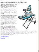 Makita Job Site Miter Saw Stand