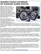 Hamilton Casters and Wheels for Automatic Guided Vehicles