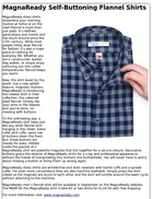 MagnaReady Self-Buttoning Flannel Shirts