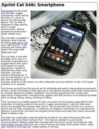 Sprint Cat S48c Smartphone - Contractor Supply Magazine