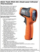 Klein Tools IR10 20:1 Dual-Laser Infrared Thermometer