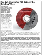 Rex-Cut Aluminator T27 Cotton Fiber Grinding Wheel