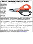 Crescent Wiss Electrician Data Scissors