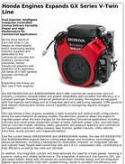 Honda Engines Expands GX Series V-Twin Line
