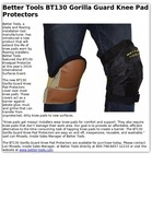 Better Tools BT130 Gorilla Guard Knee Pad Protectors