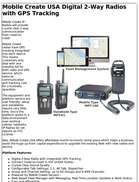 Mobile Create USA Digital 2-Way Radios with GPS Tracking