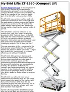 Hy-Brid Lifts ZT-1630 cCompact Lift
