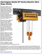 Harrington Hoists RY Series Electric Wire Rope Hoists