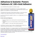 Powers Fasteners AC 100+Gold Adhesive