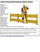 Steel King Self-Closing Safety Gates