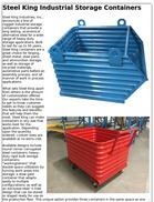 Steel King Industrial Storage Containers