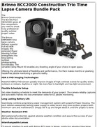 Brinno BCC2000 Construction Trio Time Lapse Camera Pack