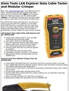 Klein Tools LAN Explorer Data Cable Tester and Modular Crimper
