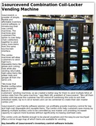 1sourcevend Combination Coil-Locker Vending Machine
