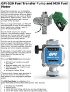 GPI G20 Fuel Transfer Pump and M30 Fuel Meter