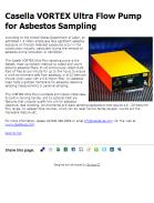 Casella VORTEX Ultra Flow Pump for Asbestos Sampling
