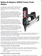 SENCO Fusion Finish Nailers Combine Best of Air, Cordless Technologies