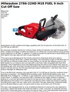 Milwaukee 2786-22HD M18 FUEL 9 Inch Cut Off Saw