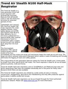 Trend Air Stealth N100 Half-Mask Respirator