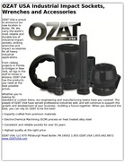 OZAT USA Industrial Impact Sockets, Wrenches and Accessories