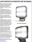 ECCO EW2520 and EW2530 LED Worklights