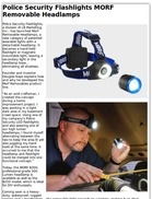 Police Security Flashlights MORF Removable Headlamps