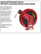 Reelcraft Reelsafe Series RS7000 Controlled Return Hose Reels
