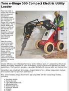 Toro e-Dingo 500 Compact Electric Utility Loader