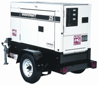 Multiquip's ultra-silent Whisper Watt series of generators produces sound levels at or lower than 65 decibels under full load at a distance of 23 feet.