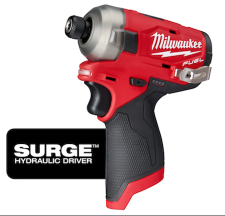 Milwaukee Tool's M12 FUEL SURGE 1/4-inch Hex Hydraulic Driver will be the first 12V subcompact hydraulic driver in the market.