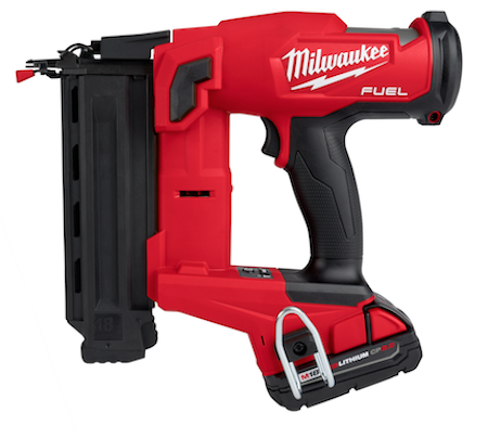 The M18 FUEL 18-gauge Brad Nailer delivers clean, consistent nail holes in a compact size and with zero ramp-up time.