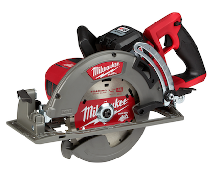 The M18 FUEL 7 1/4-inch Rear Handle Circular Saw generates the power of a 15-amp corded saw and cuts faster than the leading corded units.