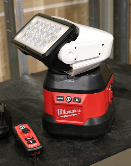 Coming in October, the M18 Utility Remote Control Search Light has the versatility for use on and off the bucket truck.