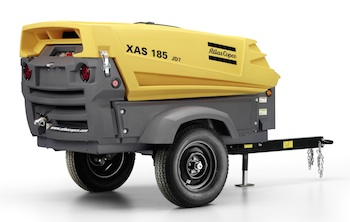 Atlas Copco's new 180,000-square-foot facility in Rock Hill, South Carolina, will produce portable compressors and generators, including the XAS 185 compressor shown here.
