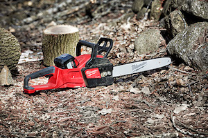 "The Milwaukee M18 FUEL 16"" Chainsaw has the power to cut hardwoods, cuts faster than gas**, and delivers up to 150 cuts per charge – providing more work-per-charge than any other cordless chainsaw available today."