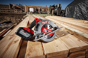 "The Milwaukee M18 FUEL 7-1/4"" Circular Saw not only generates the power of a 15amp corded saw but it also cuts faster than the leading corded units available in the industry."