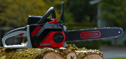 Blount announces the launch of the new OREGON PowerNow 40V MAX* Cordless Chainsaw.