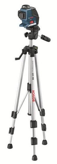 professional measurement bosch bs 150 compact tripod and gll3 80 line laser kit contractor. Black Bedroom Furniture Sets. Home Design Ideas