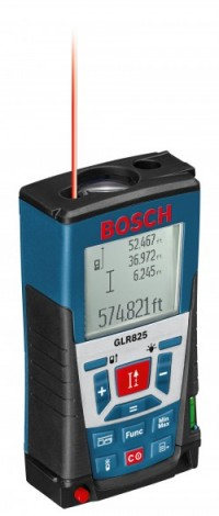 The Bosch GLR 825 laser range finder.