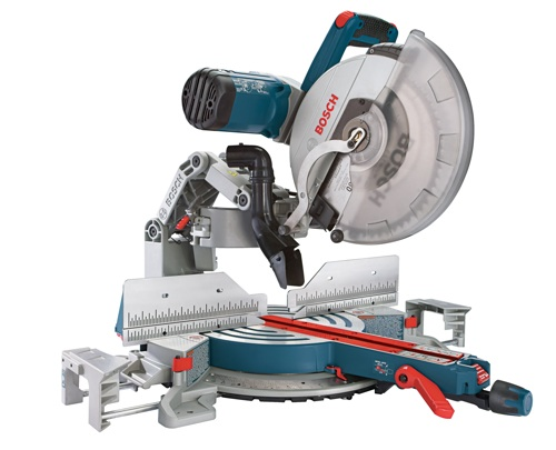"Look ma, no rails! The new GCM12SD 12"" Dual-Bevel Glide Miter Saw from Bosch uses a butter-smooth Axial Glide system."
