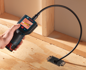 The dark, inner recesses of utility boxes, pipes, and duct work are now easier than ever to view thanks to the new Bosch PS90 12V Max Inspection Camera.